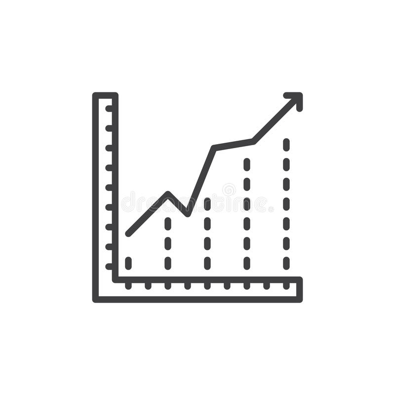 Growing chart line icon outline vector sign stock vector growing chart line icon outline vector sign linear style pictogram isolated on white diagram symbol logo illustration editable stroke ccuart Image collections