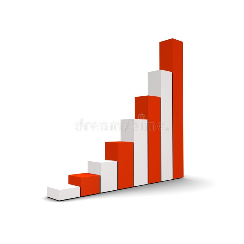 Growing column graph vector illustration