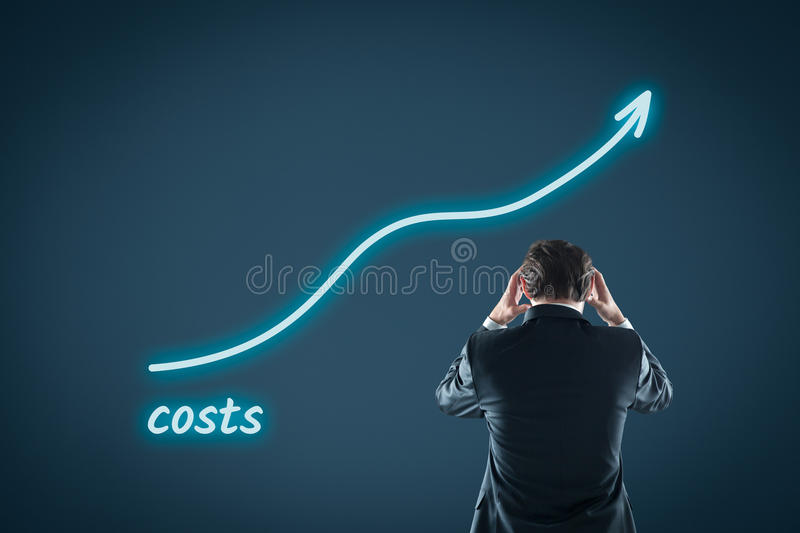 Growing costs stock images