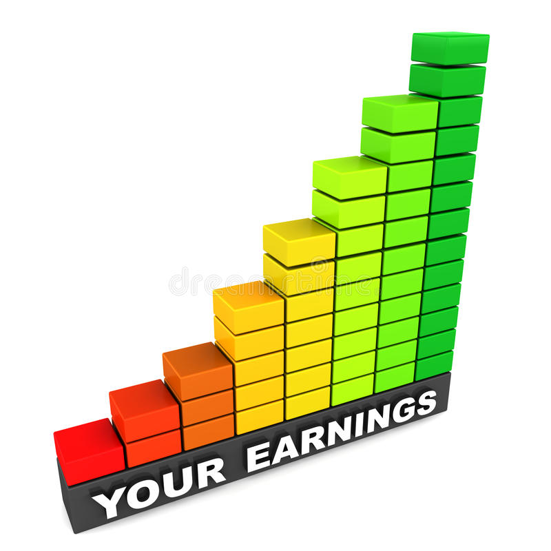 Growing earnings stock illustration