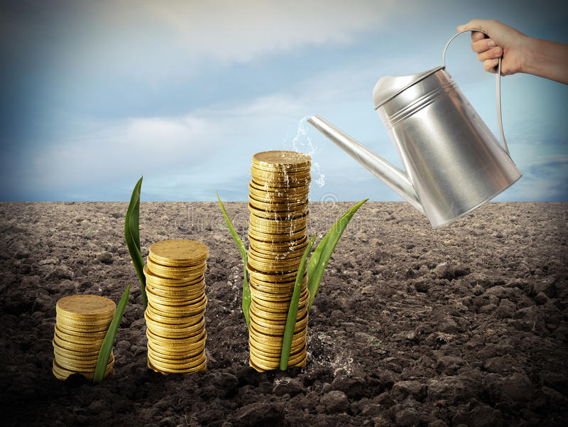 Growing the economy royalty free stock photos