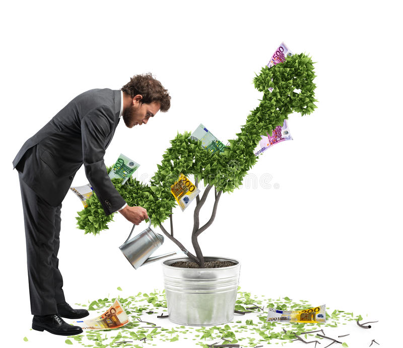 Growing the economy royalty free stock images