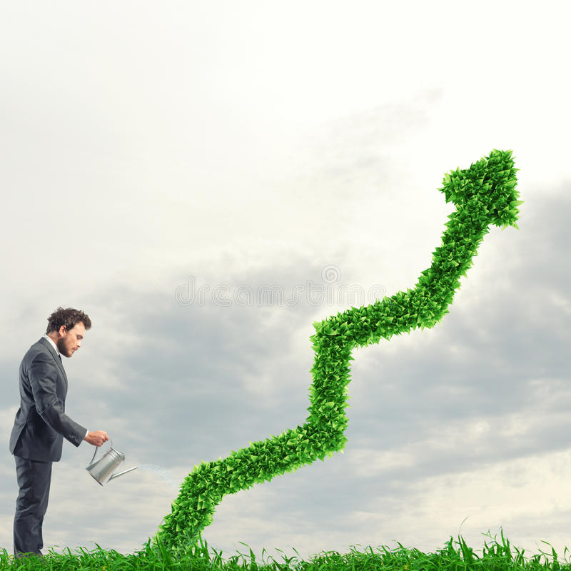 Growing the economy company stock images