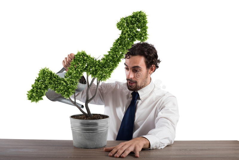 Growing the economy company . 3D Rendering stock photography