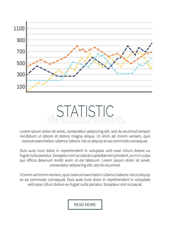 Growing Flowchart Data Information Web Poster. Growing flowchart data information. Chart with scale text sample, explanation info vector. Scheme with curved vector illustration