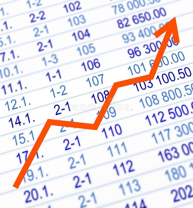Growing graph stock illustration