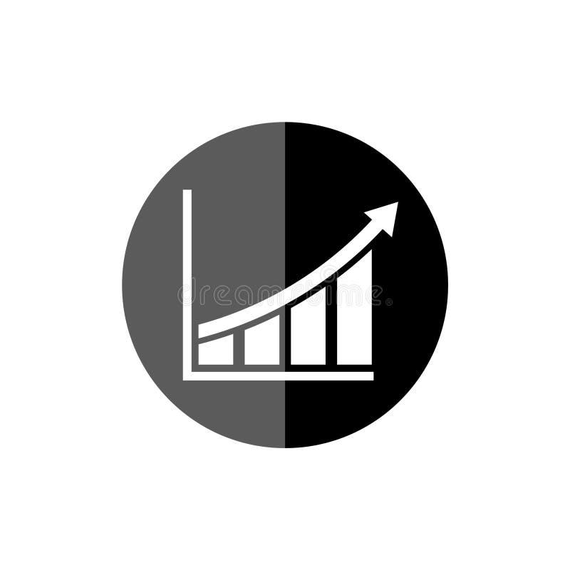 Growing graph icon, Progress symbol, simple vector icon stock illustration