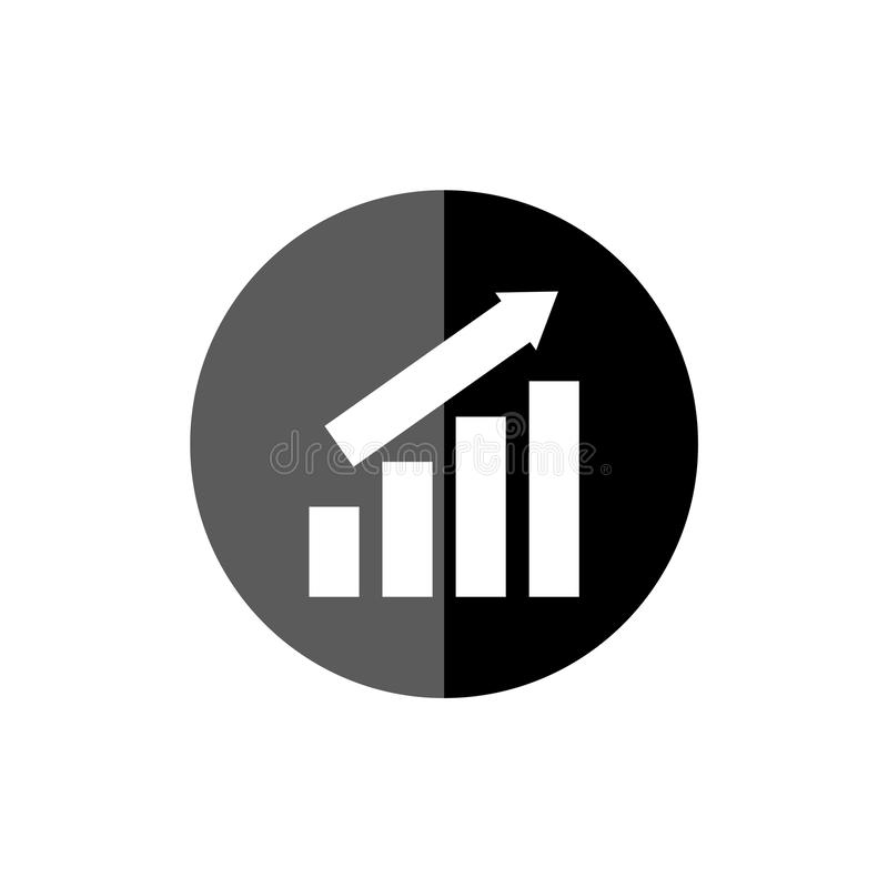 Growing graph icon, Progress symbol, simple vector icon vector illustration