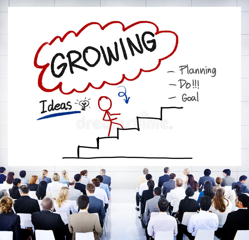 Growing Growth Mission Success Opportunity Concept stock illustration