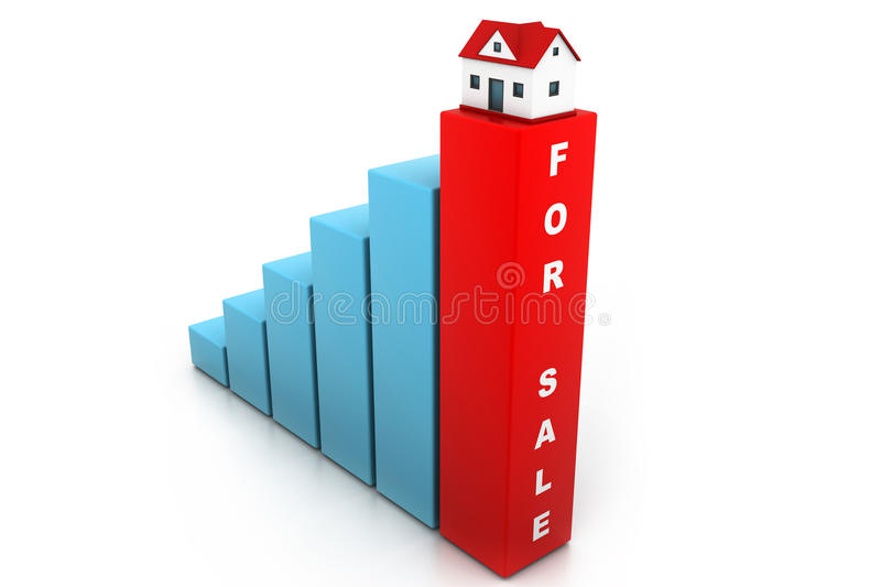 Growing home sale royalty free illustration