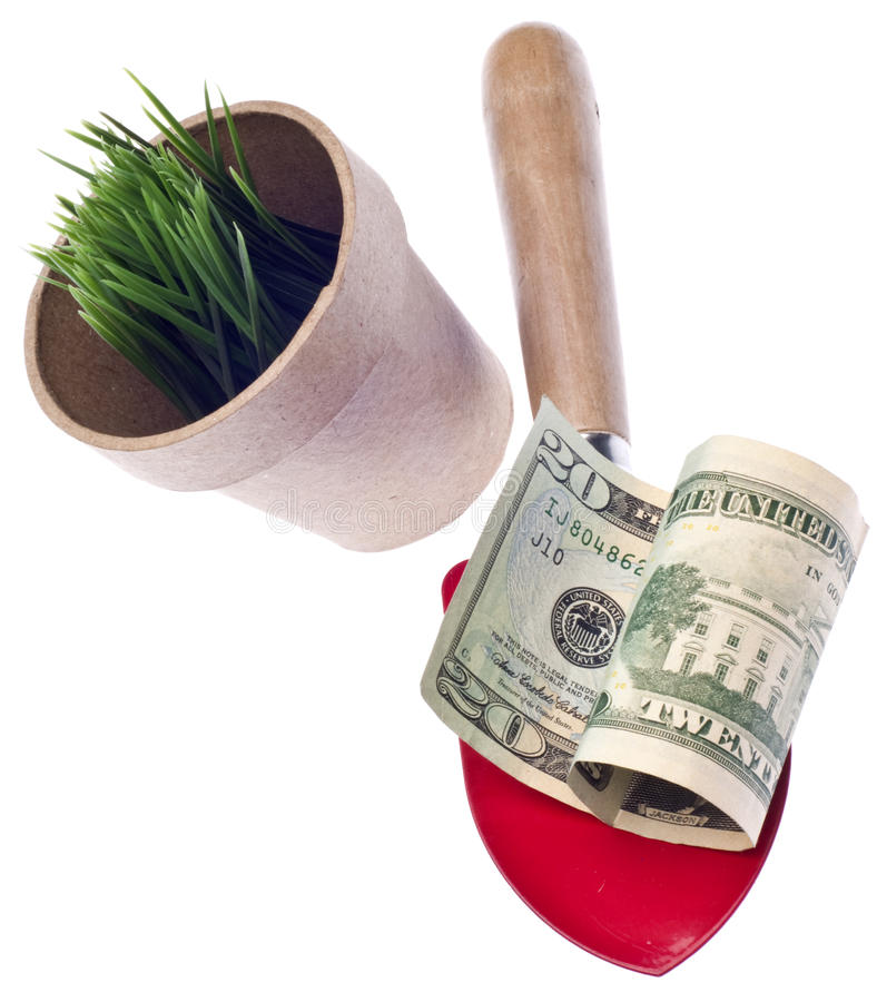 Download Growing Money Concept stock photo. Image of shovel, green - 16691600