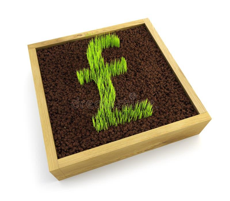 Download Growing pound symbol stock illustration. Illustration of dimensional - 12918535