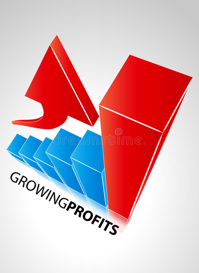 Growing Profits Royalty Free Stock Images