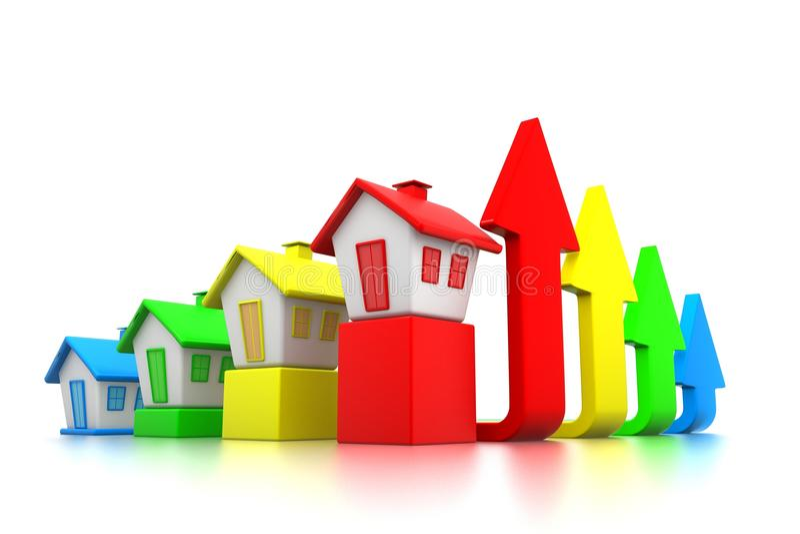 """growing Real Estate Chart† royalty-vrije illustratie"