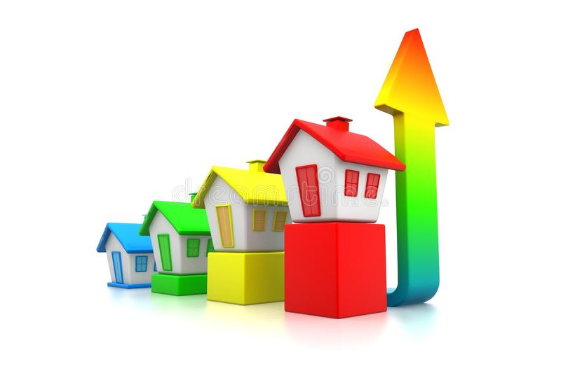 """""""growing Real Estate Chart"""" vector illustration"""