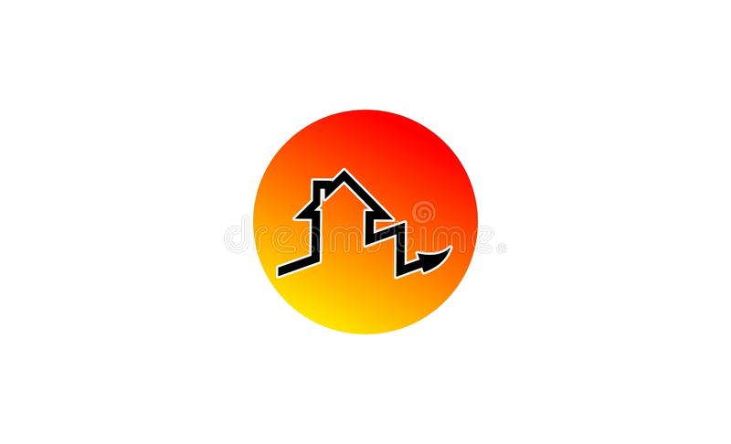 House arrow logo design vector illustration