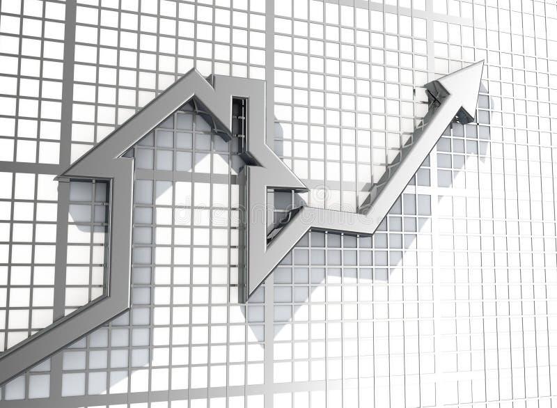 Growing Real Estate sales. 3d render