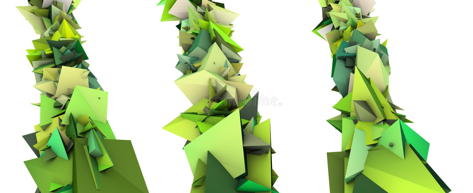 Download Growing Shape In Multiple Green Royalty Free Stock Photos - Image: 25490218