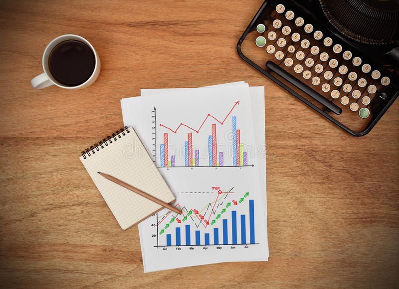 Download Growing stock charts stock image. Image of diagram, paper - 83703085