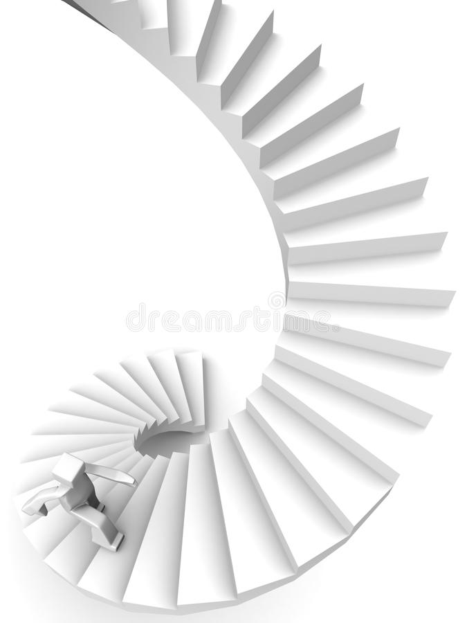Growing and success concept stock illustration