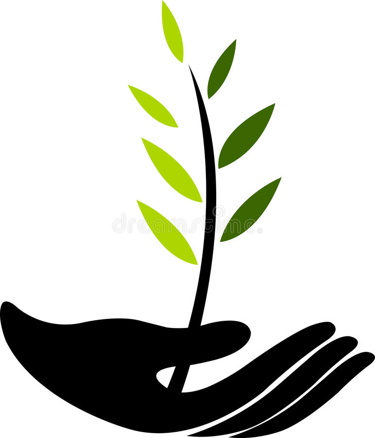 Growing tree royalty free illustration