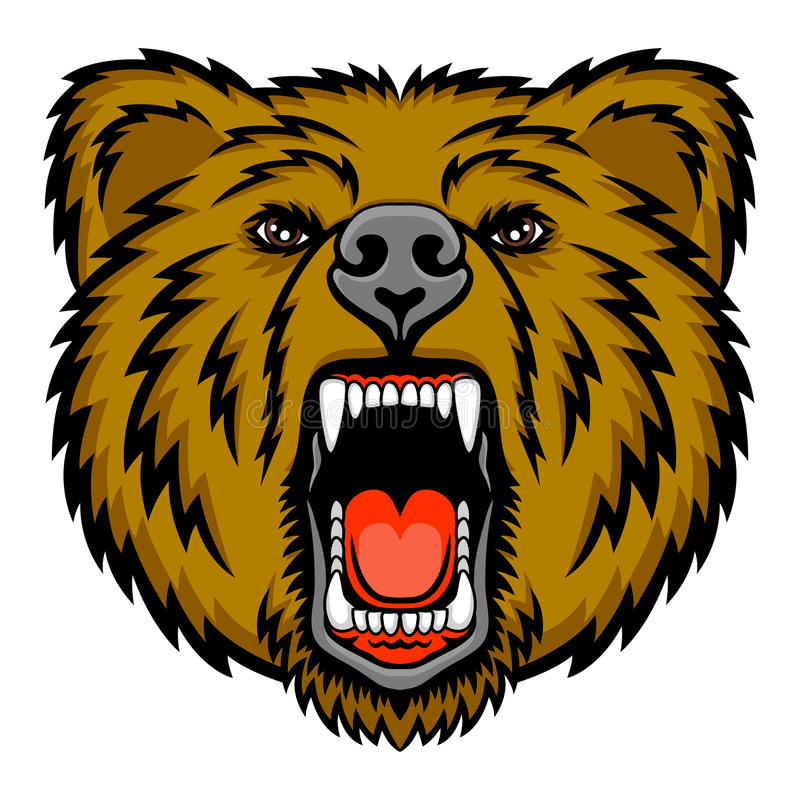 growling bear stock vector illustration of mouth aggression 30527088 rh dreamstime com