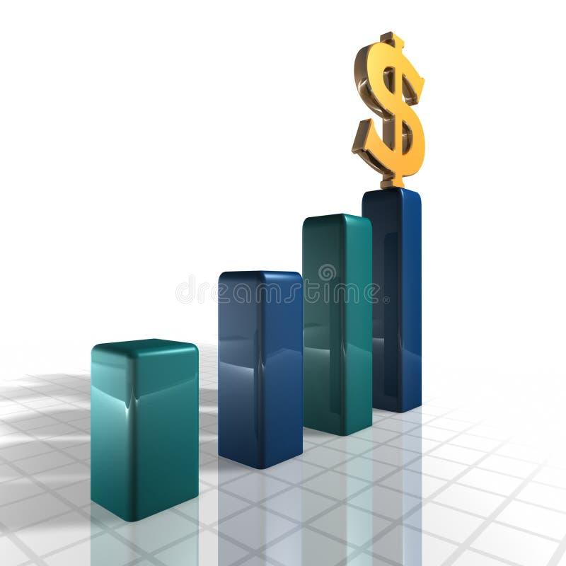 Growning Geld stock abbildung