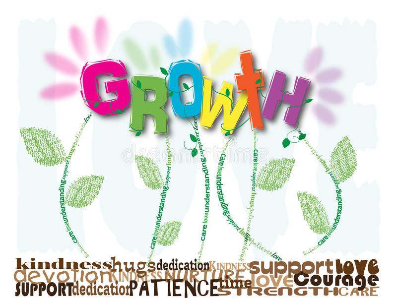 Download Growth stock vector. Image of kids, floral, growth, children - 13206124