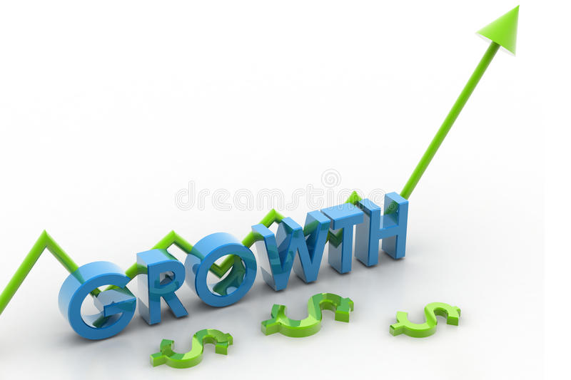 Growth and arrow stock illustration