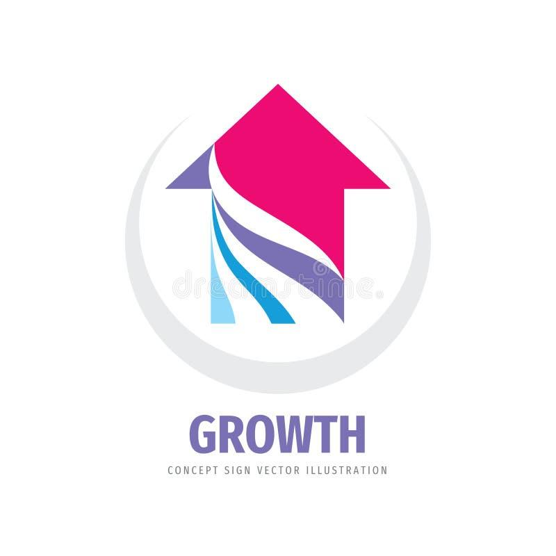 Growth arrow - concept logo vector design. Business trend sign. Progress strategy symbol. vector illustration