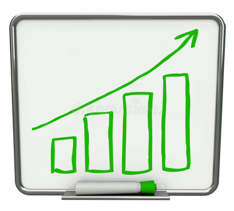 Download Growth Bars + Arrow Dry Erase Board With Marker Stock Illustration - Image: 15432643