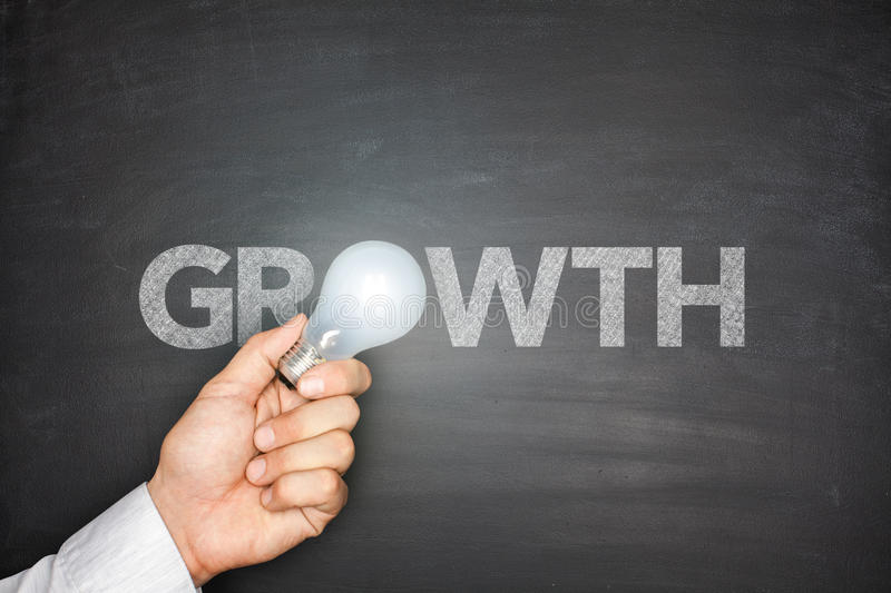Growth on Blackboard royalty free stock photos