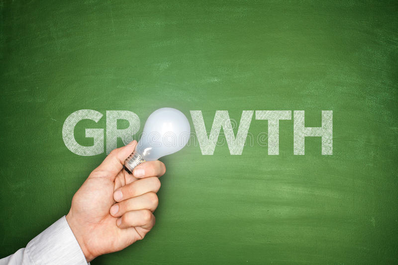 Growth on Blackboard royalty free stock image