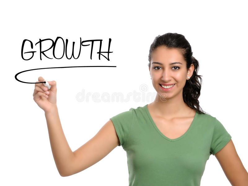 Growth in business stock image