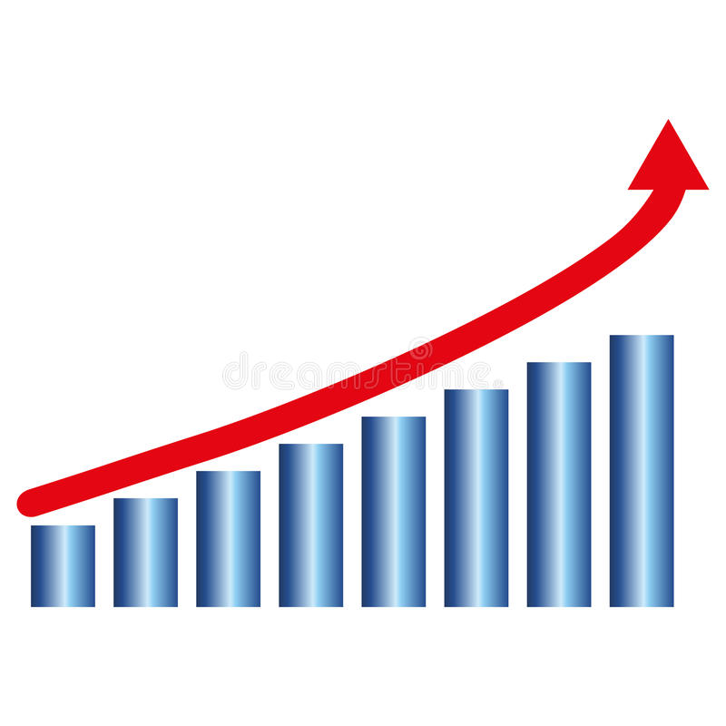 Download Growth chart stock vector. Image of blue, growth, diagram - 26175284