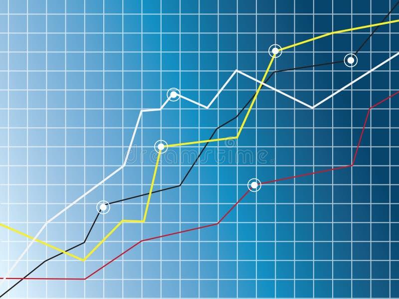 Growth chart vector illustration