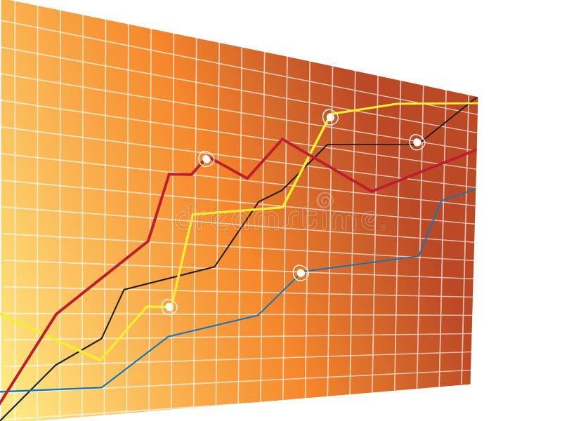 Growth chart. Vector growth chart and acceding arrow vector illustration