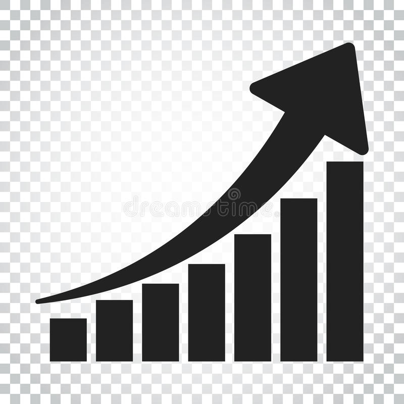 Growth chart icon grow diagram flat vector illustration busine grow diagram flat vector illustration busine stock vector illustration ccuart Image collections