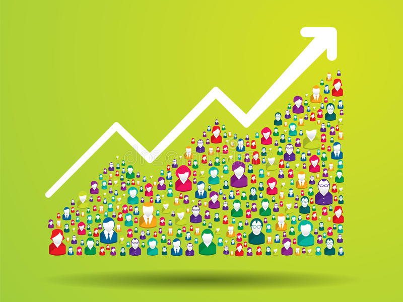Growth chart. And prgresso leading to success stock illustration