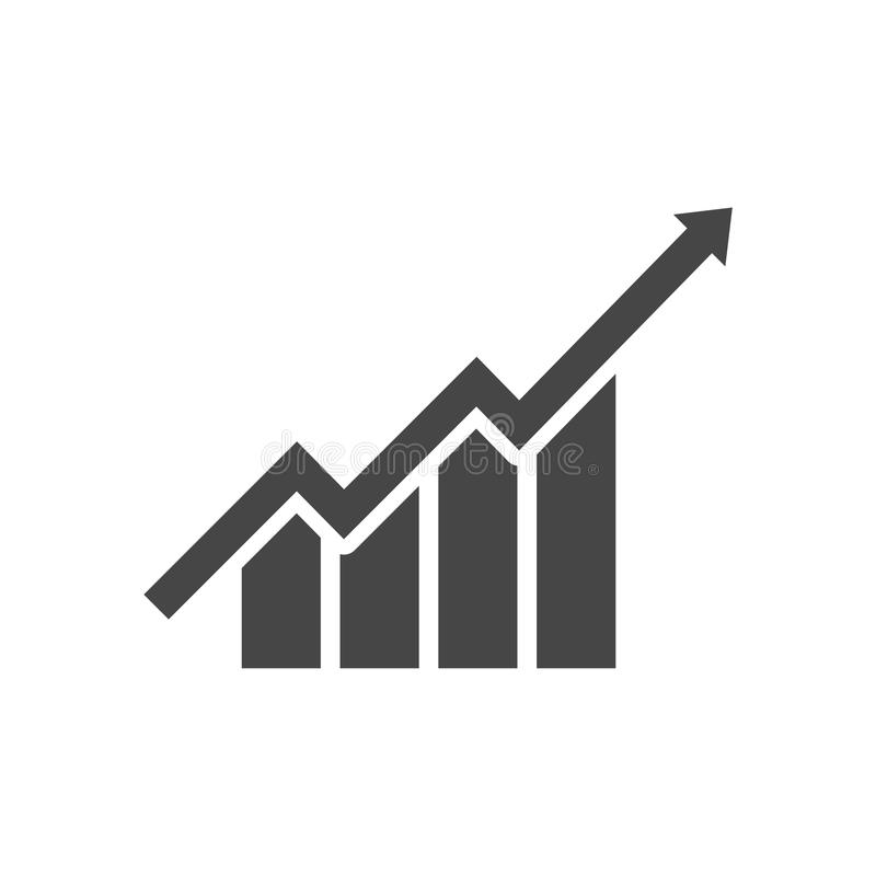 Growth chart - vector icon. Vector icon stock illustration