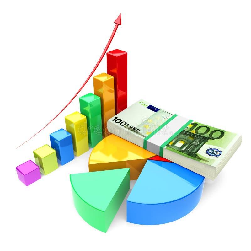 Growth charts royalty free illustration