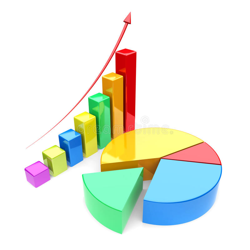 Finance Graph: Growth Charts Stock Illustration. Illustration Of Computer