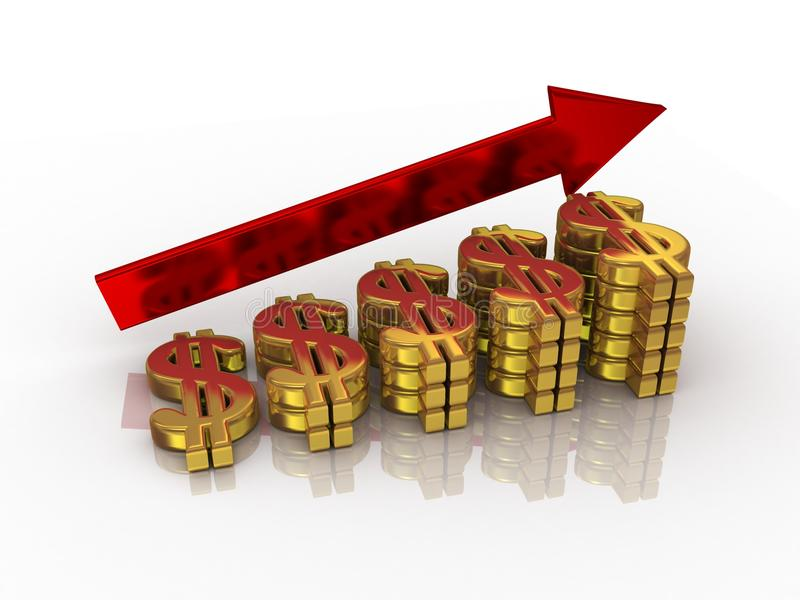 Download Growth of dollar stock illustration. Image of progress - 14615339