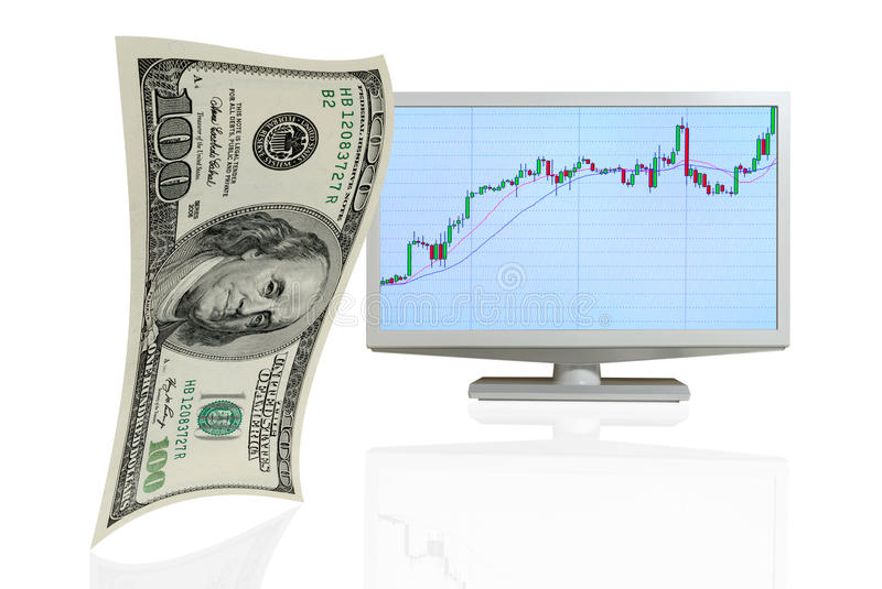 Download Growth of the the dollar. stock illustration. Image of financial - 36495537