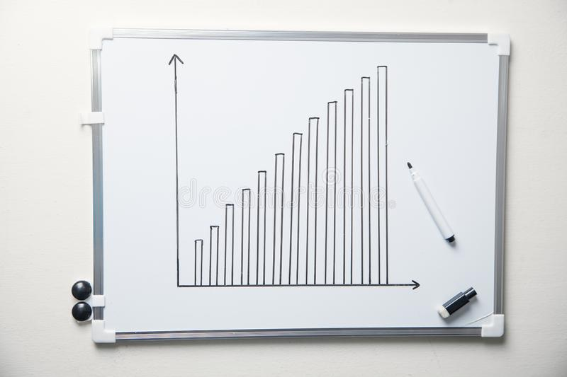 Growth graph. Business development concept stock image