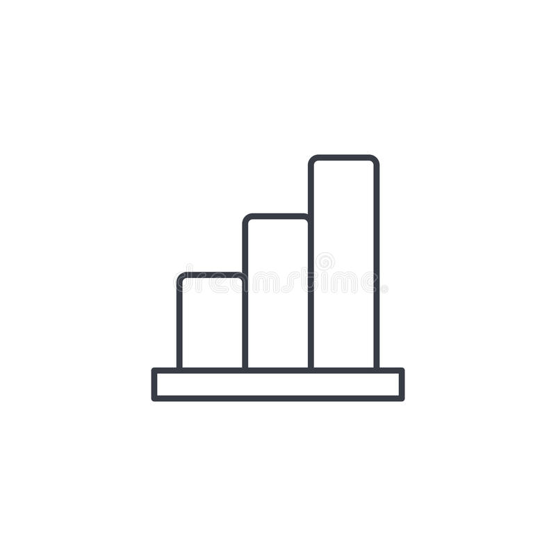 Growth graph chart, market success, stock bar up thin line icon. Linear vector symbol. Growth graph chart, market success, stock bar up thin line icon. Linear vector illustration