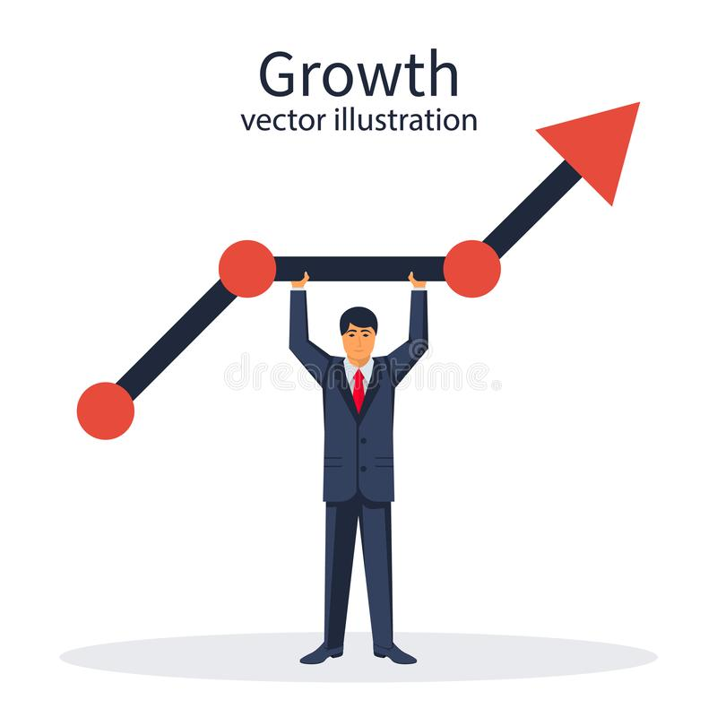 Growth graph concept vector illustration