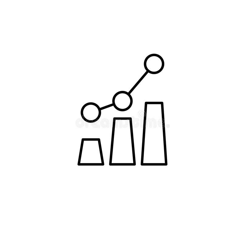 Growth graph. Vector Icon royalty free illustration
