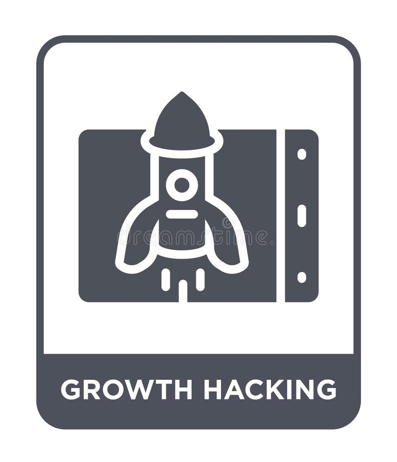 growth hacking icon in trendy design style. growth hacking icon isolated on white background. growth hacking vector icon simple royalty free illustration