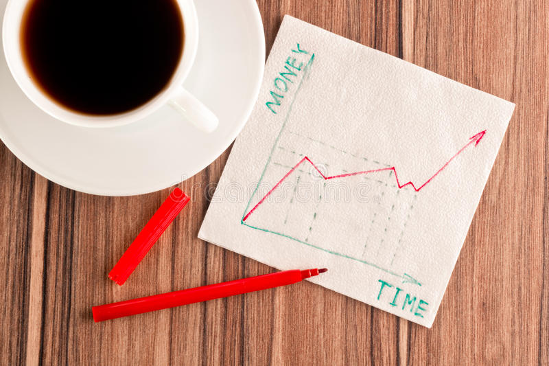 Download Growth Of Money  On A Napkin Stock Image - Image: 25533269